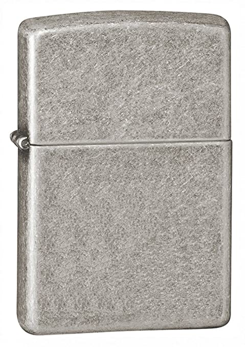 Zippo Armor Pocket Lighter Antique Silver Plate