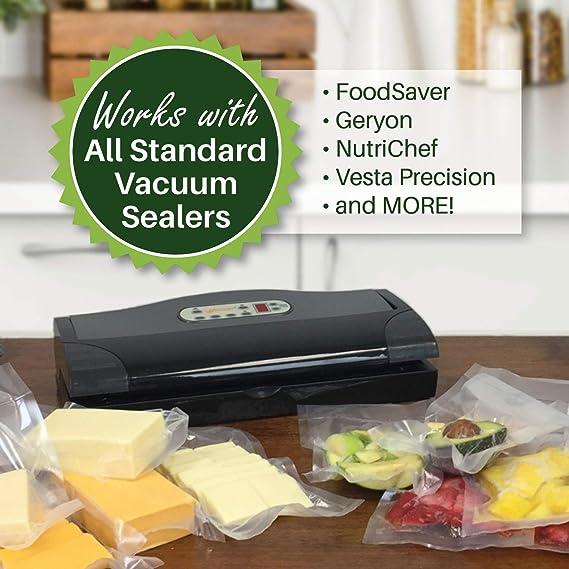 Amazon.com: 400 foodvacbags. 200 Pinta y 200 Quart ...
