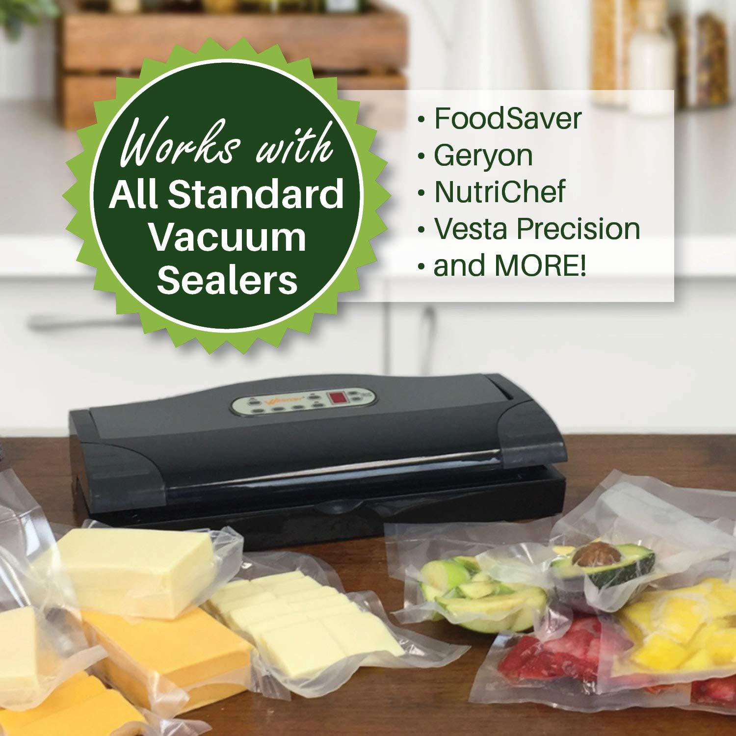 Eight 8X50 Rolls of 4 mil FoodVacBags Vacuum Sealer Bags by FoodVacBags (Image #2)