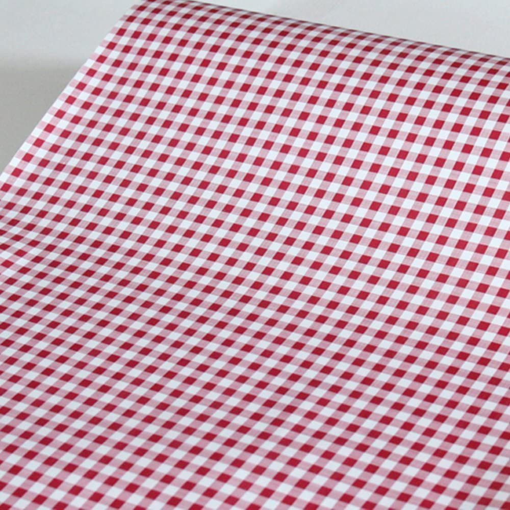 SimpleLife4U Red Holiday Gingham Contact Paper Self-Adhesive Shelf Liner Makeup Cabinet Decor 17.7 Inch By 9.8 Feet