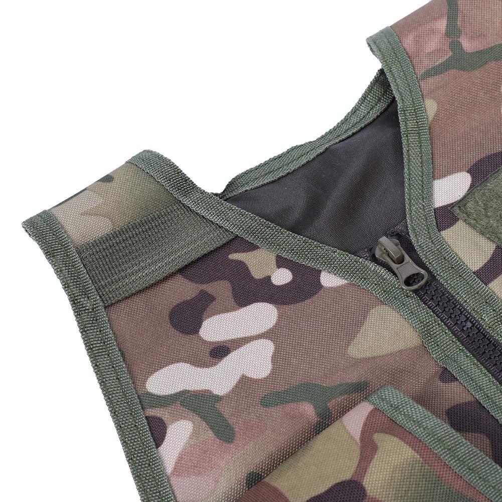 SolUptanisu Chaleco Camuflaje para Ni/ños y Adultos Chaleco de T/áctico de Militar de Ej/ército Chaleco de Combate CS Molle Chaleco para Ni/ños Juegos Al Aire Libre