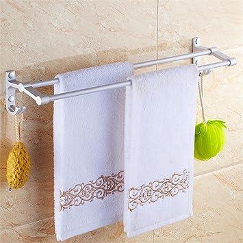MmDLai Espacio Toallero Aluminio Baño Toallas Baño Estante De Pared,50cm Toalleros Repisa: Amazon.es: Bricolaje y herramientas