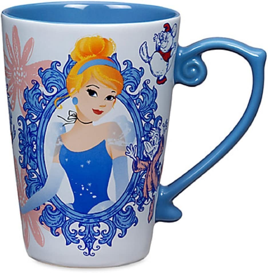 Amazon Com Disney Store Princess Cinderella Coffee Mug Blue 2016 Kitchen Dining