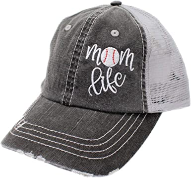 R2N fashions Mom Life Nurse Life Womens Embroidered Trucker Hats and Caps