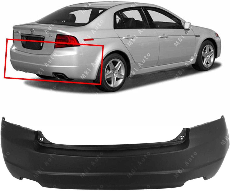 Amazon Com Mbi Auto Primered Rear Bumper Cover Replacement For 2004 2005 2006 Acura Tl 04 06 Ac1100146 Automotive