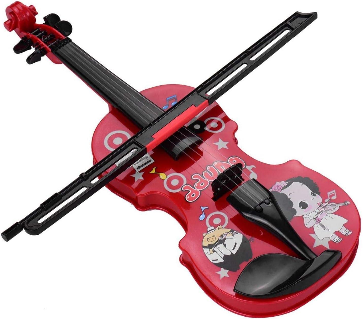 xuew Kinder wenig Violine mit Geigenbogen Fun Educational Musikinstrumente Elektronische Violine Spielzeug f/ür Kleinkinder Kinder Jungen und M/ädchen Red