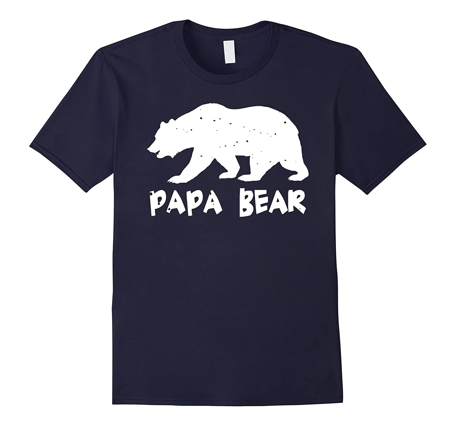 Papa Bear Funny Matching T-Shirt for Dad Great Gift Idea-TH