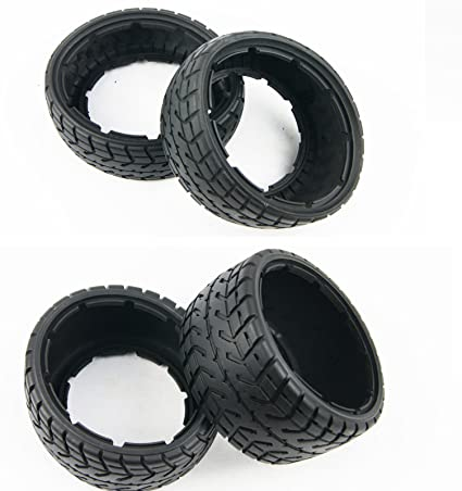 Amazon Com Xmaxrc Front And Rear On Road Tire Kit Tarmac Buster For 1 5 Hpi Baja 5b Ss Rovan Km Toys Games