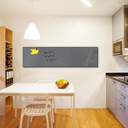 Pizarra magnética DekoGlas de cristal, tablón para pared de 150 x ...