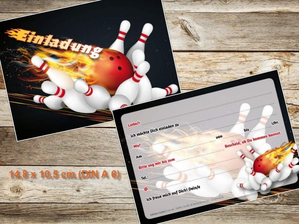 Kostenlos einladungskarten drucken bowling Kegel Vorlagen