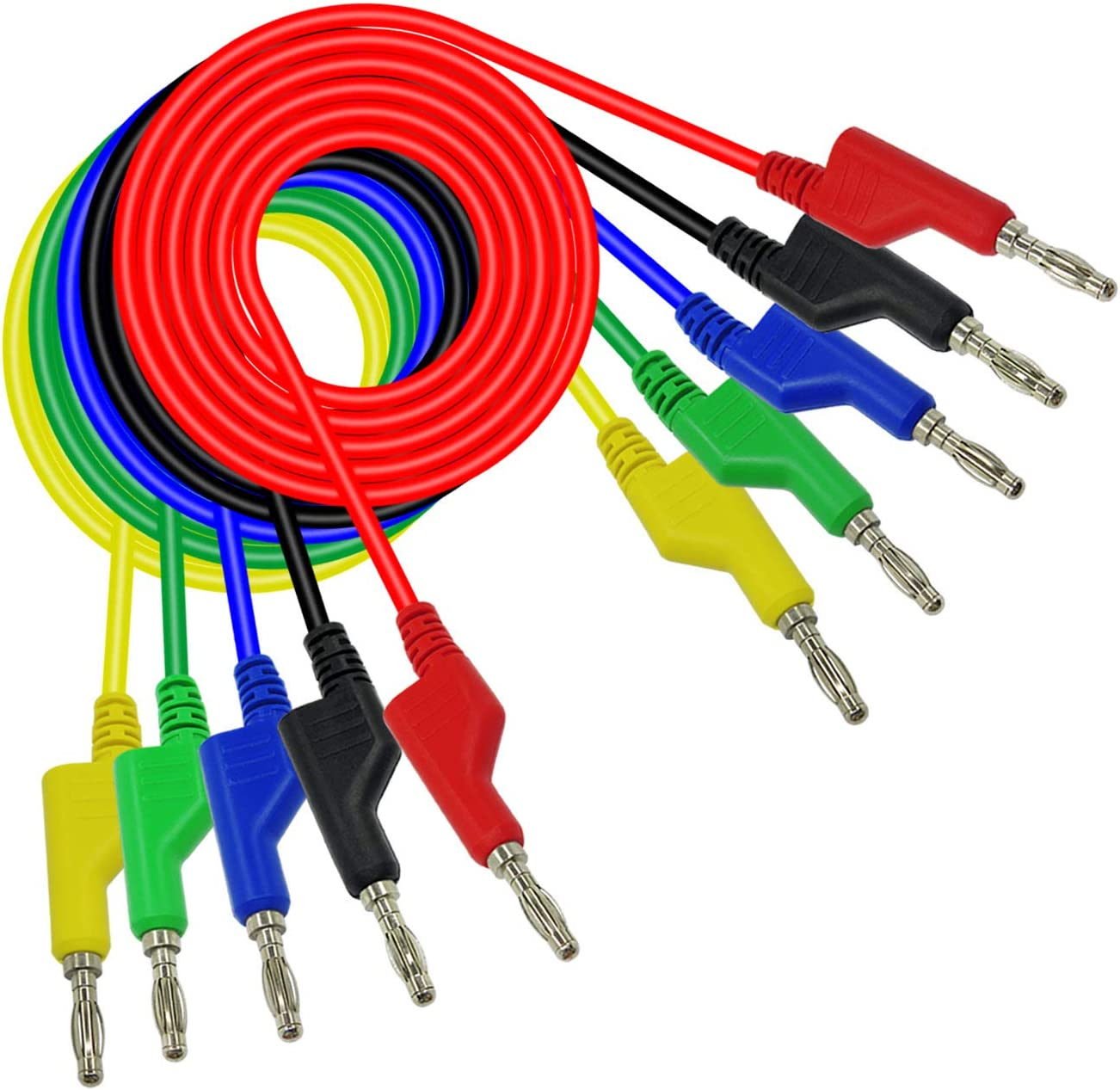 Cable de Prueba para Pruebas el/éctricas de Laboratorio 4 mm Aofan 5 Unidades