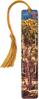 product image for Personalized Juniper Tree Color Photograph by Mike DeCesare Wooden Bookmark with Tassel - Search B07D19PSXR to See Non Personalized Version