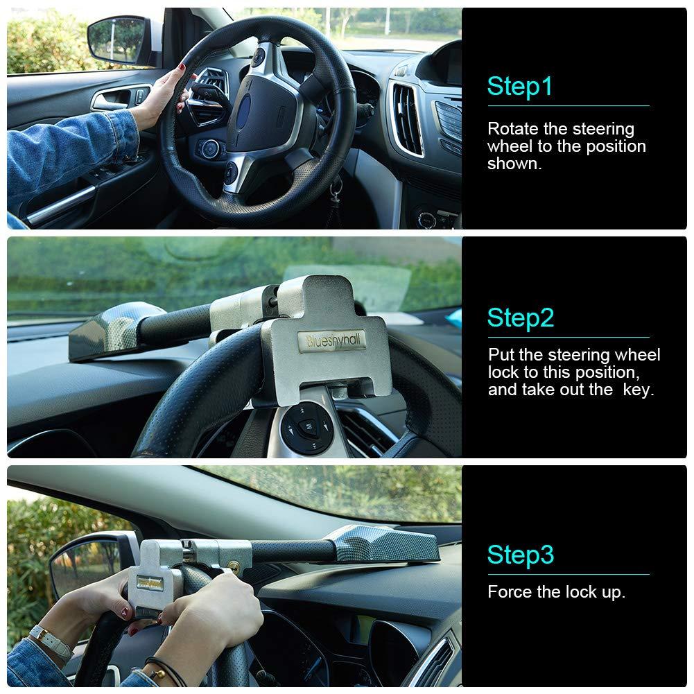 Universal Lenkradschloss Alarmschloss T-Lock Blueshyhall Auto Diebstahlsicherung
