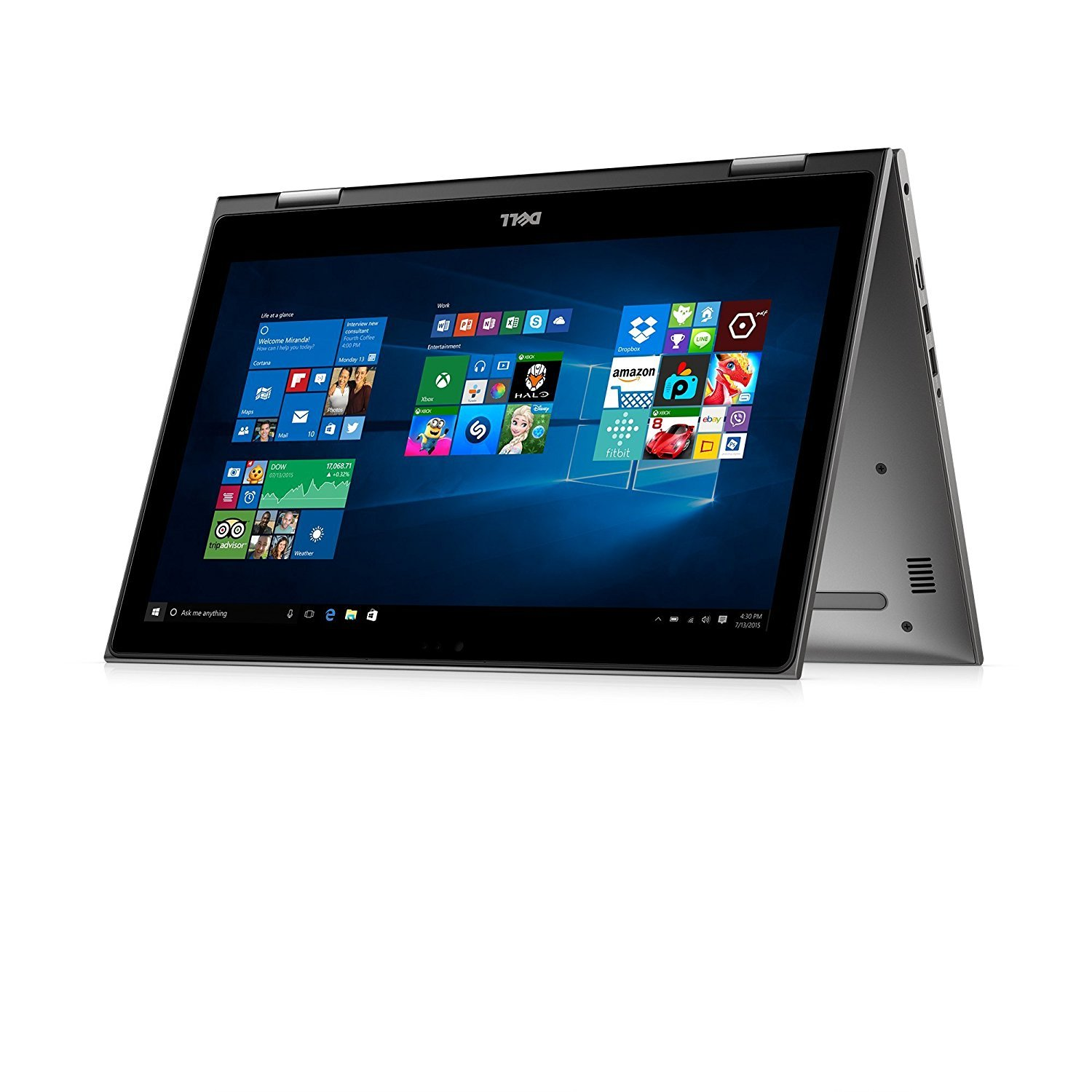 Amazon.com: Dell Inspiron 15 5000 2-in-1 Laptop Computer: Core i7-8550U, 256GB SSD, 8GB RAM, 15.6-inch Full HD Touch Display, Backlit Keyboard, ...