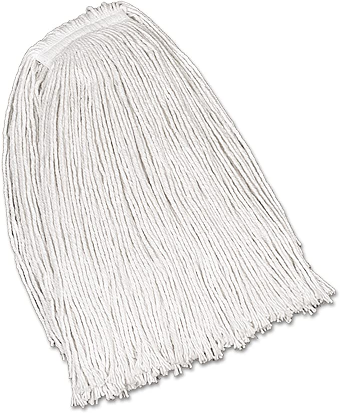 Rubbermaid V419 Economy Cotton Mop Heads Cut End White 32oz 1 White Headband 1 Dozen Kitchen Dining