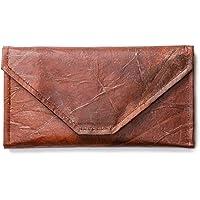 Leaf Leather Envelope Clutch - Handmade Women's Purse Wallet
