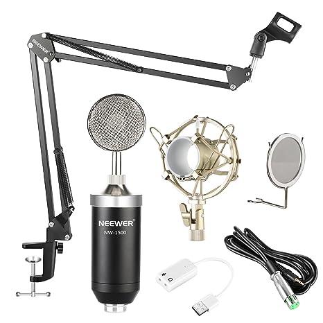 Neewer NW-1500 Professional Estudio Micrófono de Condensador ...