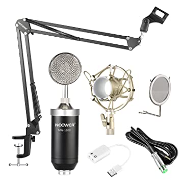 Amazon.com: Neewer NW-1500 - Kit de micrófono de condensador ...