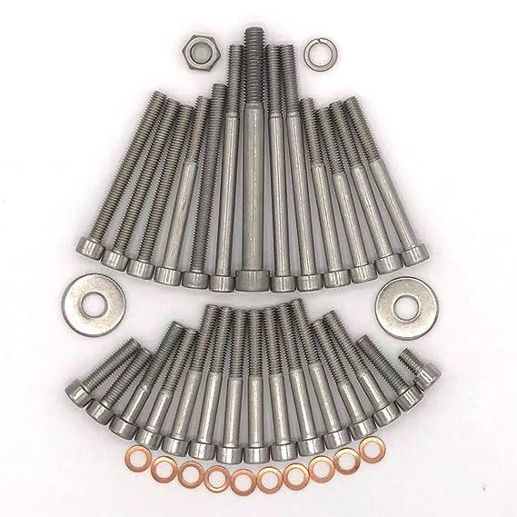 MZ ETZ 250 Motor Zylinderschrauben mit Innensechskant aus Edelstahl 42 teilig