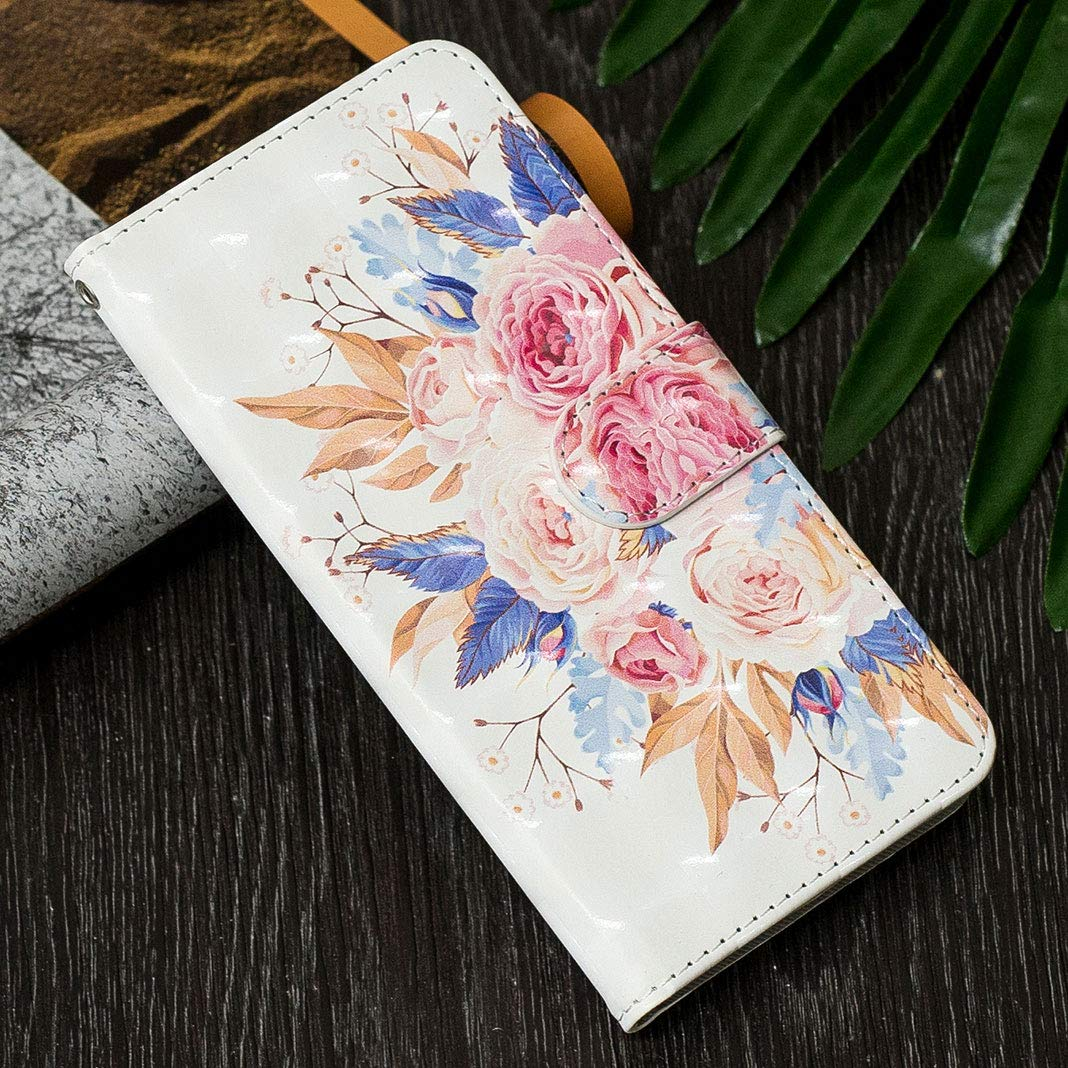 ToMoYi 3D Colorful Pattern PU Leather Protective Cover case with Card Holder mangetic closure Kickstand Stand Book Style Flip Cover for Huawei P8 Lite 2017 Huawei P8 Lite 2017 Wallet Case
