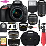 Nikon D5600 24.2 MP DSLR Camera + AF-P DX 18-55mm & 70-300mm NIKKOR Zoom Lens Kit + Accessory Bundle