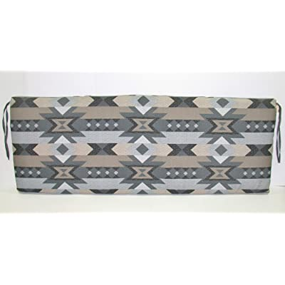 (1) Outdoor Patio Bench Settee Cushion ~ Desert Sunset ~ 17 x 46 x 3 New Shipping Included : Garden & Outdoor