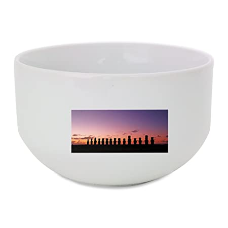 Chile, Isla de Pascua, Rapa Nui, Moai bol de cerámica: Amazon.es ...