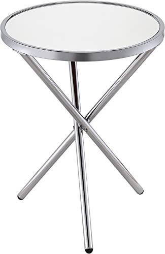 ACME Furniture 81818 Lajita Side Table, One Size, Mirror and Chrome