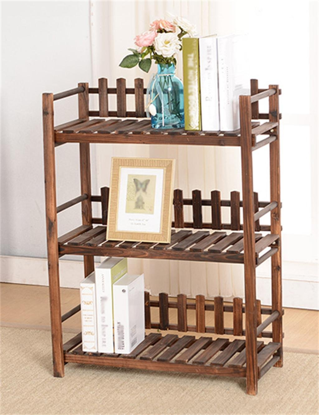 h lzerner mehrschichtboden blumen topf regal betriebs standplatz blumenregal f r garten im. Black Bedroom Furniture Sets. Home Design Ideas