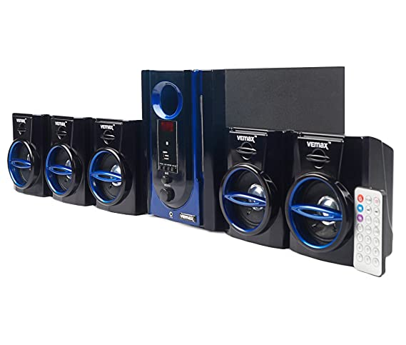 300548451 Amazon.in  Buy Vemax Swag 5.1 Home Theater System With FM USB AUX (Black    Blue)  New   Improved  Online at Low Prices in India