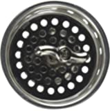 Everflow Spin and Seal Stainless Steel Basket Insert Replacement 75411, Threaded Post Metallic Finish, Easy Install, Chrome Plated, Brass Knob & Long Spring, Extra Deep Sink Strainer, Threaded Stopper