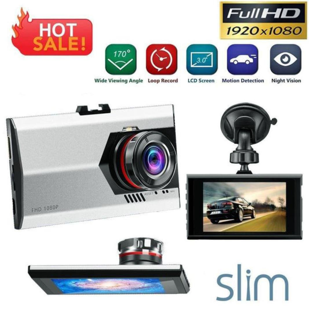 OVERMAL 3' Full HD 1080P Car DVR Dash Camera G-sensor Vehicle Video Cam Recorder