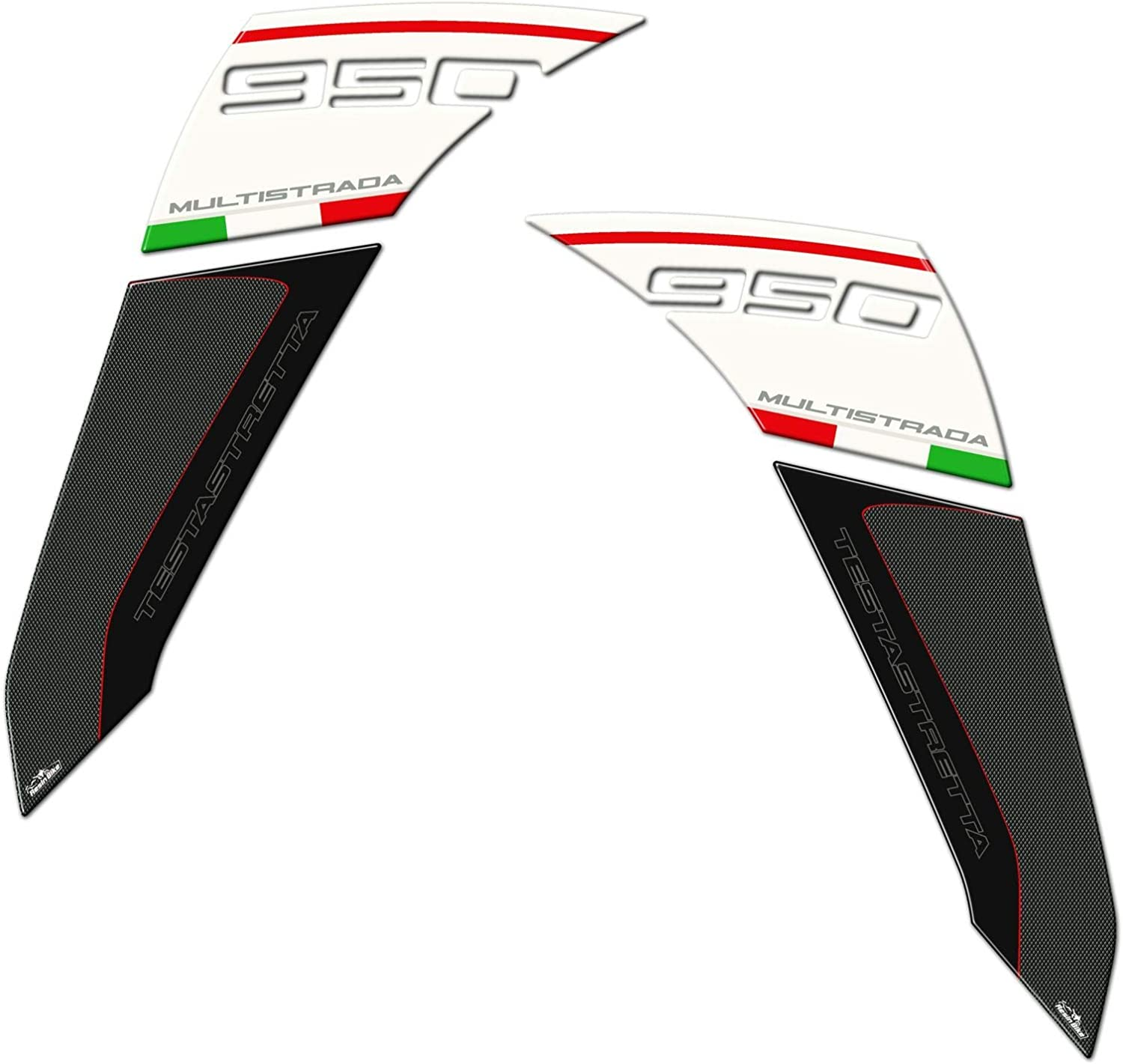 Stickers 3D Guards Side 02 Compatible with Ducati Multistrada 950
