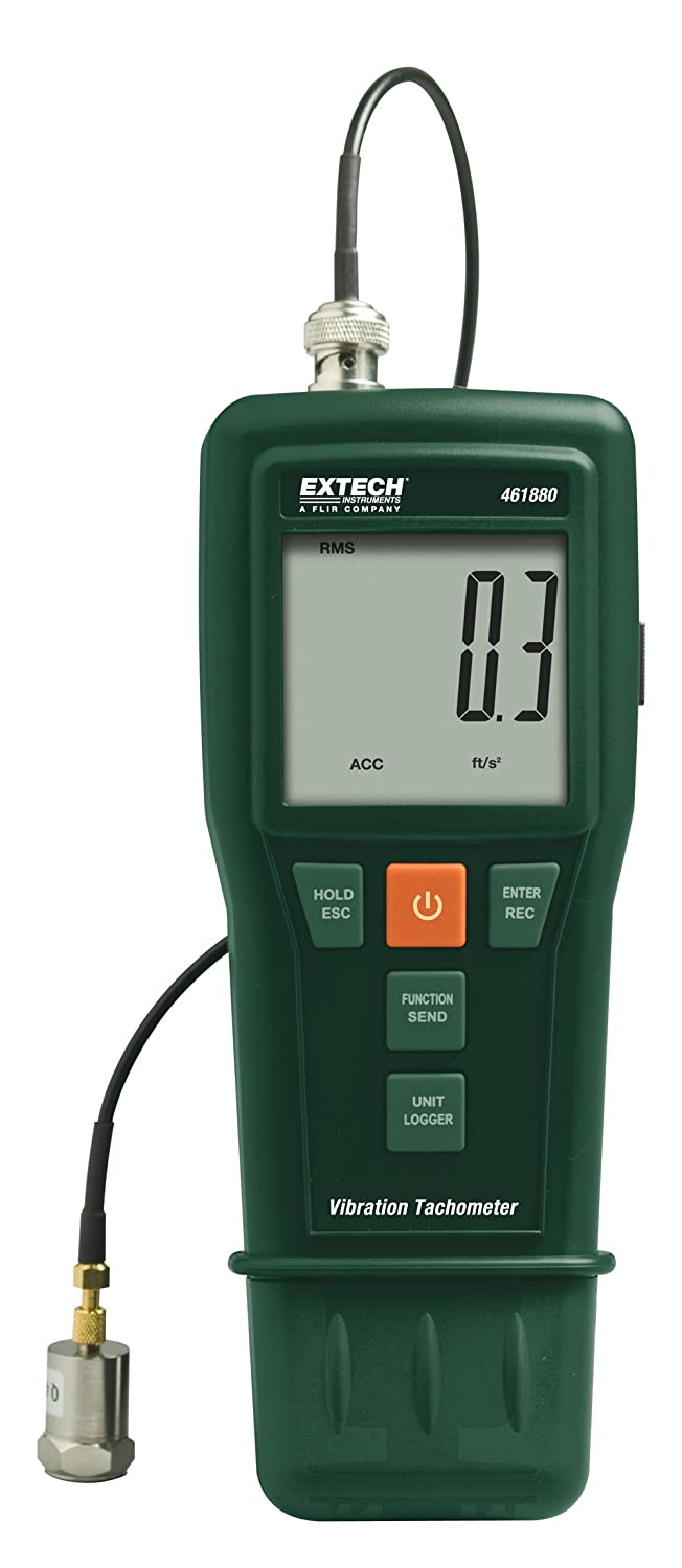 Extech 461880 Vibration Meter + Laser/Contact Tachometer by Extech B004WN5UKG