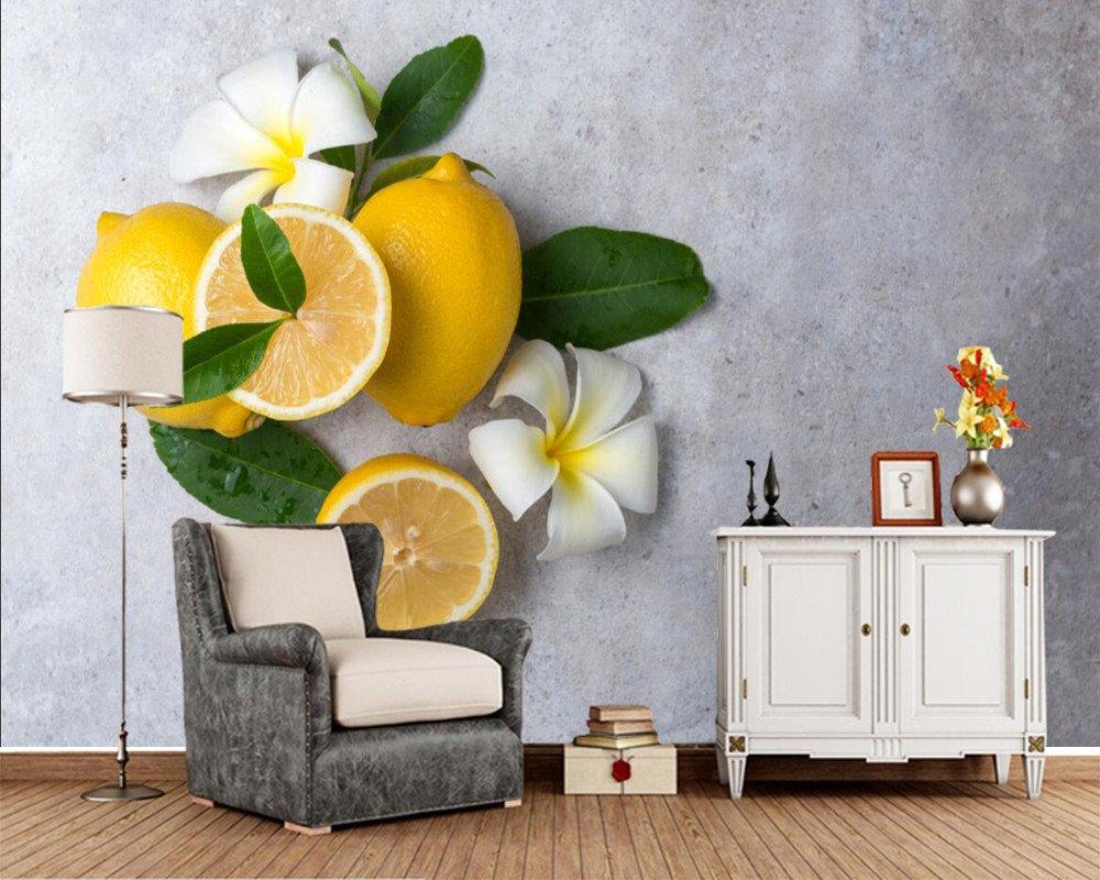Yosot 3d Zitronen Plumeria Essen Fototapete Wohnzimmer Fernseher ...