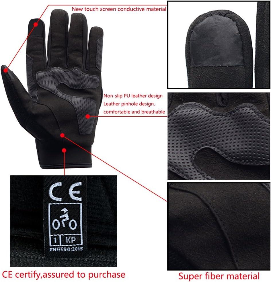 L WANYI Guanti Moto Estivi Guanti Protettivo Motorcycle Gloves Arrampicata Guanti da Moto Uomo Donna Touchscreen Pieno Dita Guanti per corse in Motocicletta Escursioni e Altri Sport Allaperto