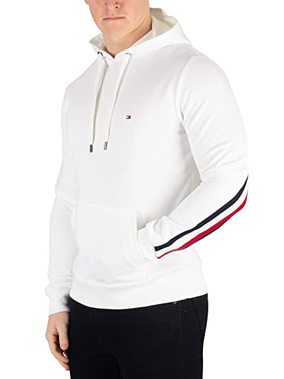 Tommy Hilfiger Herren Sweatshirt Global Stripe Weiss (10) S