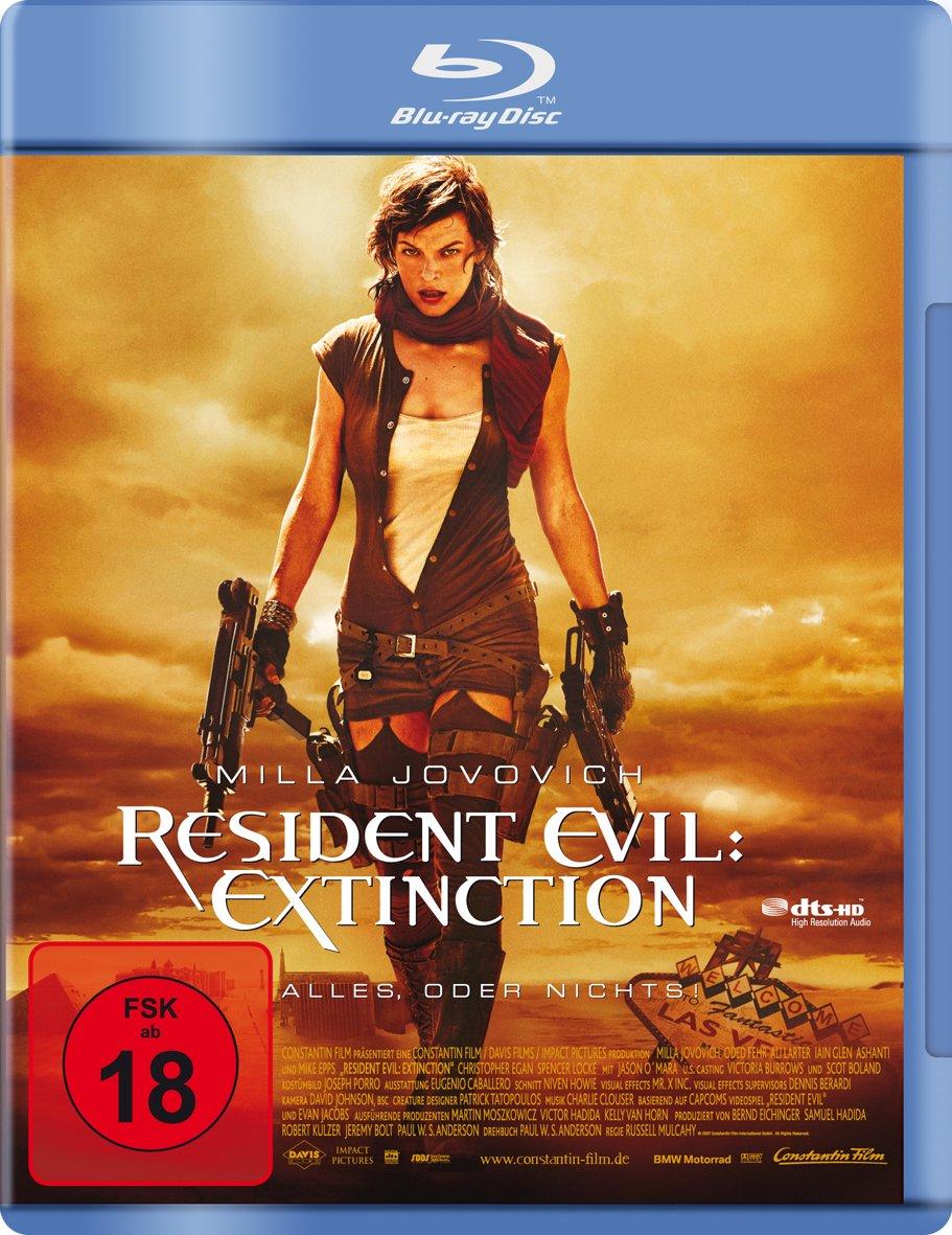 Resident Evil: Extinction [Alemania] [Blu-ray]: Amazon.es: Jovovich, Milla, Glen, Iain, Epps, Mike, Larter, Ali, Fehr, Oded, Ashanti, Locke, Spencer, Egan, Christopher, OMara, Jason, Mulcahy, Russell, Jovovich, Milla, Glen, Iain: Cine y Series