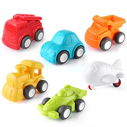 Amazon Com Pedy Car Toys 6 Pack Toddler Toys Vehicles Push And Go