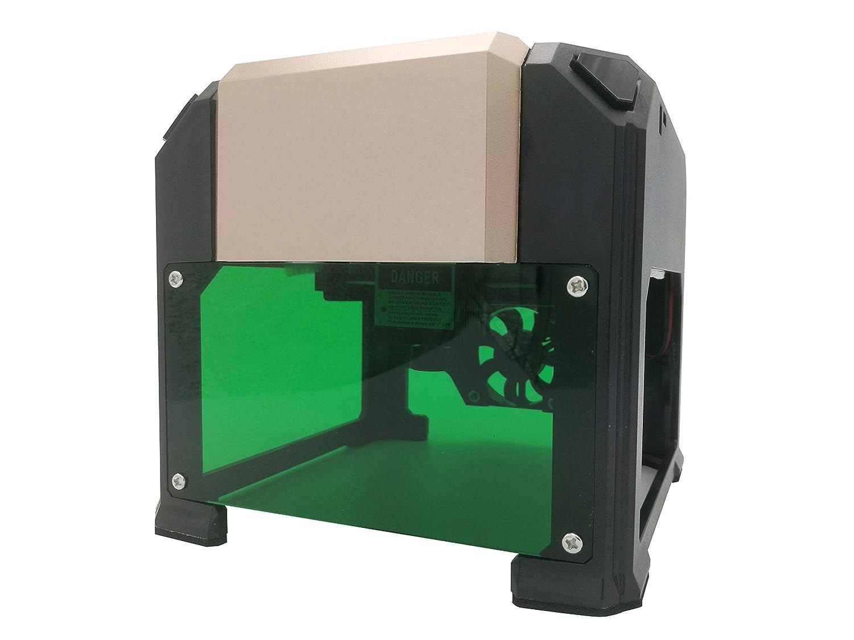SixDu 3000mw Imprimante portative de gravure de laser,Taille de l'espace de sculpture 80x80mm,Famille Coupeur de gravure laser à grande vitesse, Connexion USB, Machine avec des lunettes pour Artisanat DIY, Version mise à jour