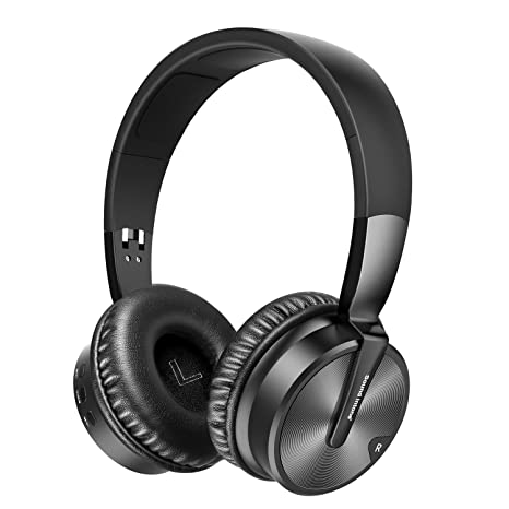 Auriculares Bluetooth Auriculares Diadema,SUAVER Auriculares Inalámbricos Plegable Estéreo Cancelación de Ruido HD Mic Hi