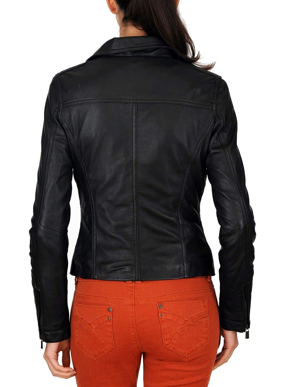 Womens Leather Jacket Stylish Motorcycle Biker Genuine Lambskin 130