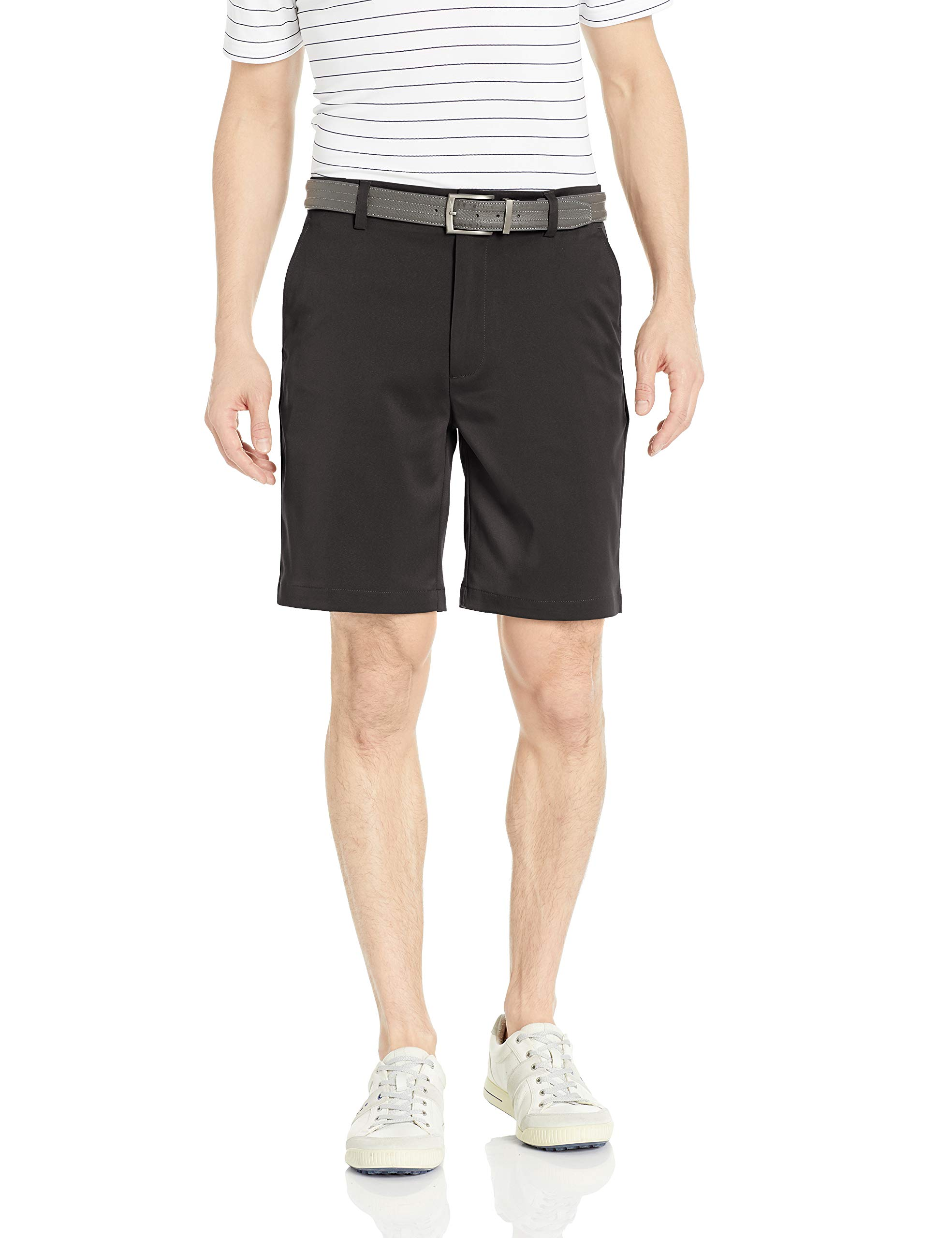 Amazon Essentials Men's Standard Classic-Fit Stretch Golf Short, Black, 34 by Amazon Essentials