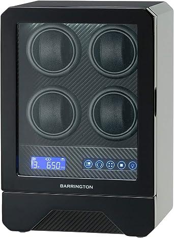 Cargador para 4 Relojes   Estuche Cargador Cuádruple con Acabado en Carbono   Función Control Remoto: Amazon.es: Relojes