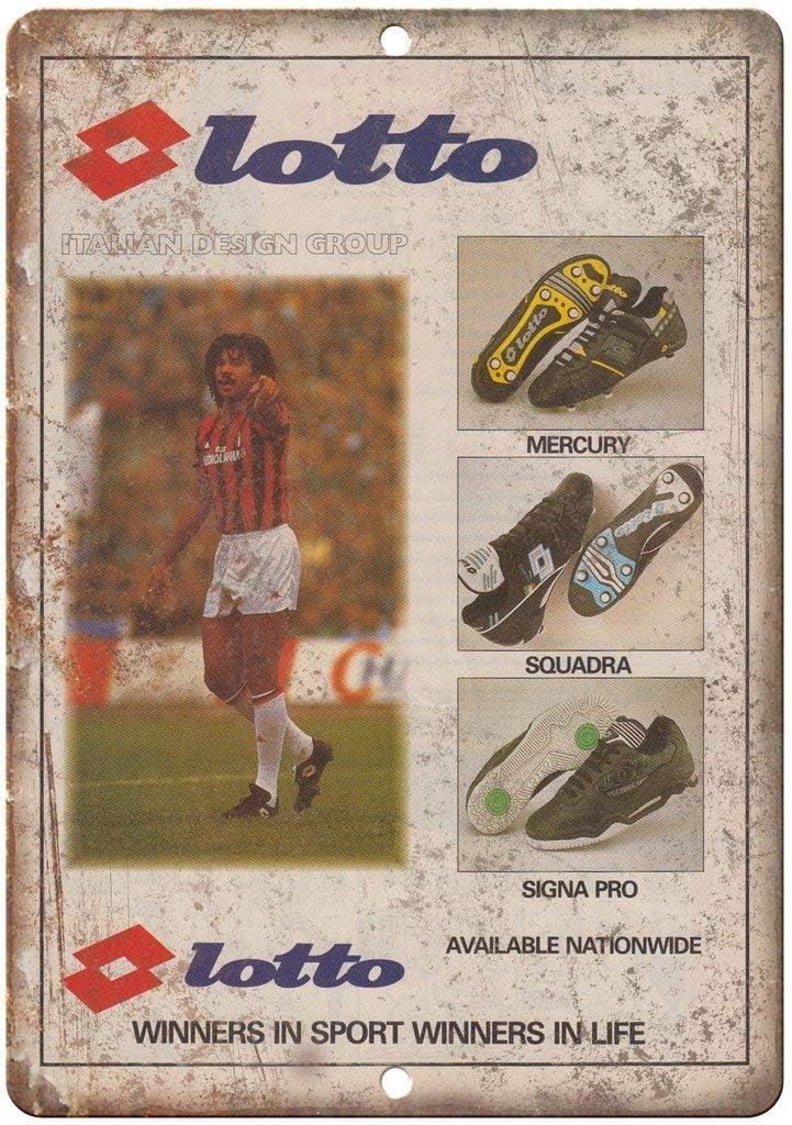 NOT Lotto Mercury Squra Signa Placa de Cartel de Chapa Vintage ...