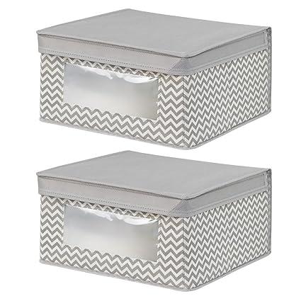 InterDesign Chevron Fabric Closet Organizer Box u2013 Soft Storage Bin for Clothing Shoes Handbags  sc 1 st  Amazon.com & Amazon.com: InterDesign Chevron Fabric Closet Organizer Box u2013 Soft ...