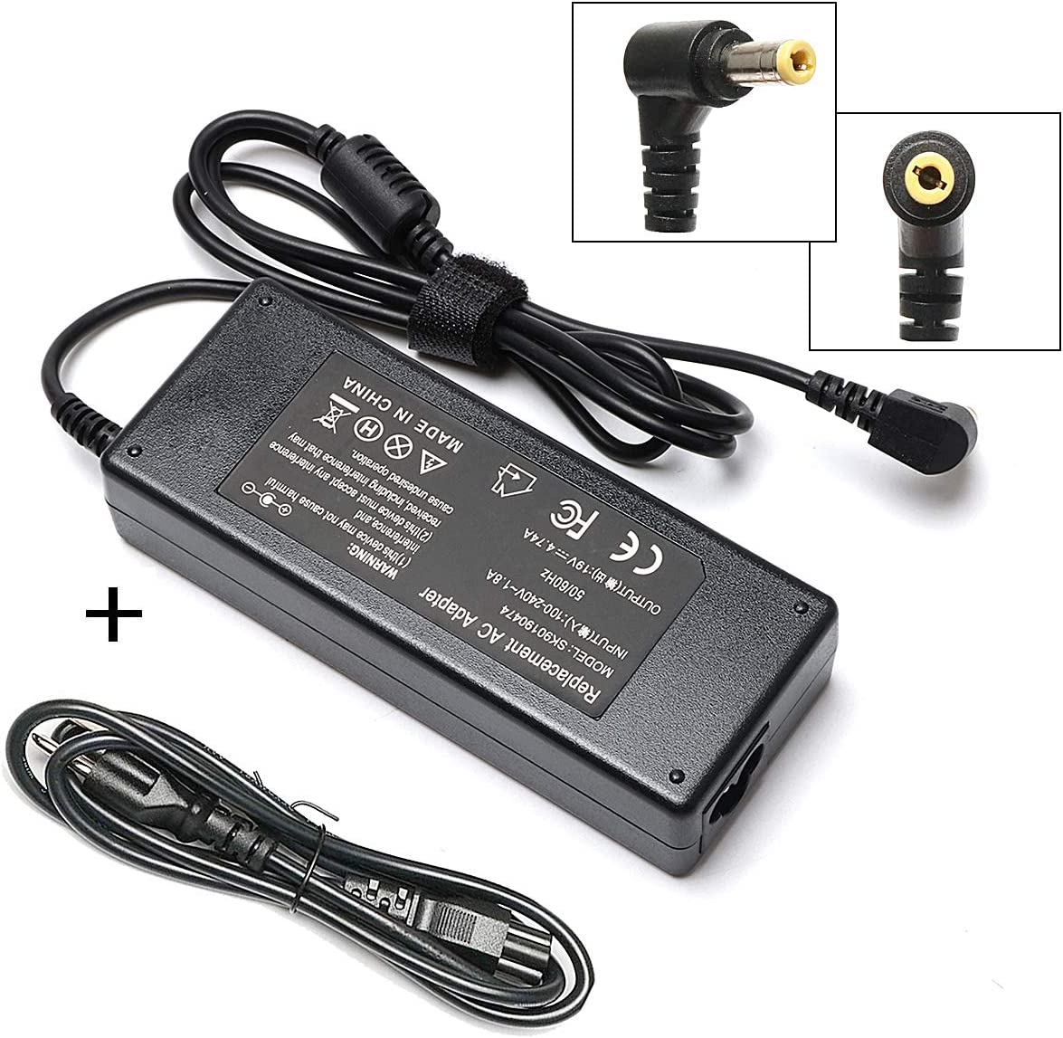 90W Laptop Charger Compatible for Toshiba Satellite C655 C675 C675D L645 L645D L655 L655D L675 L675D L745 L755 L755D P745 P755 P775 M645 Series AC Adapter Power Supply Cord PA3714U-1ACA PA5177U-1ACA