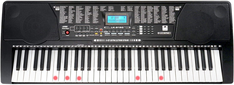 Digital 61 Tasten Keyboard E-Piano Klavier 255 Sounds Rhythmen Lern Funktion