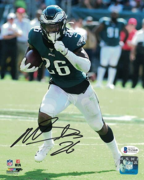 Miles Sanders Autographed//Signed Pro Style Green XL Jersey BAS