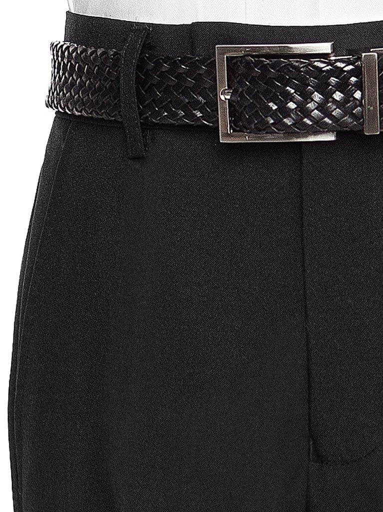 RGM Boys Dress Pants Flat-Front - Slim fit Dress Slacks 100% Dacron Navy 3 by RGM (Image #2)